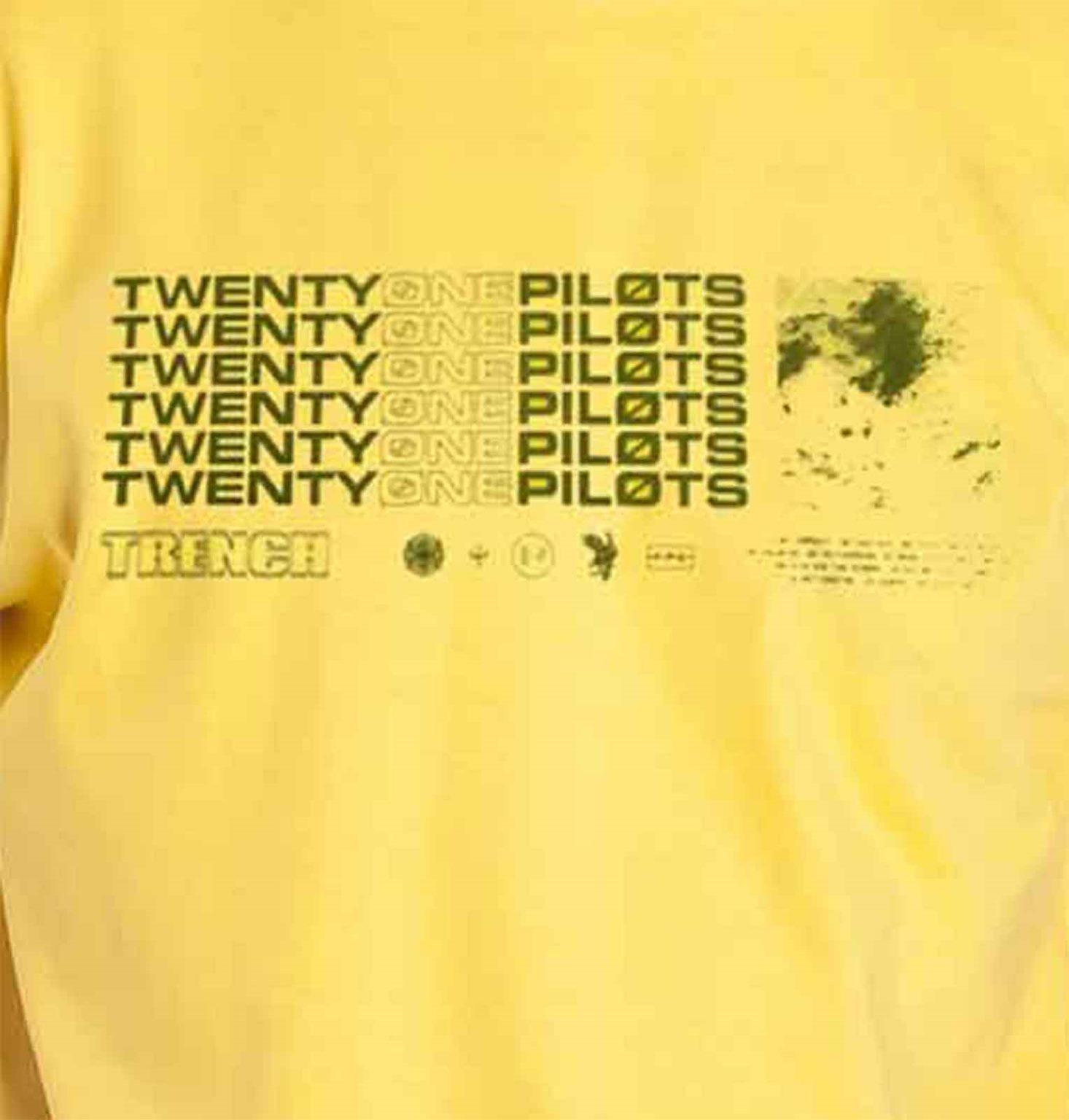 b7c36c8c6 Twenty One Pilots T Shirt Trench Stacker Band Logo new Official Mens Yellow    Trade Me