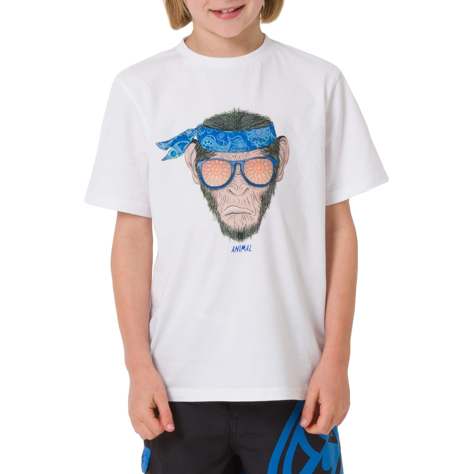Animal Boys Kids Hendrix Short Sleeve Crew Neck Casual Cotton T-Shirt Tee Top