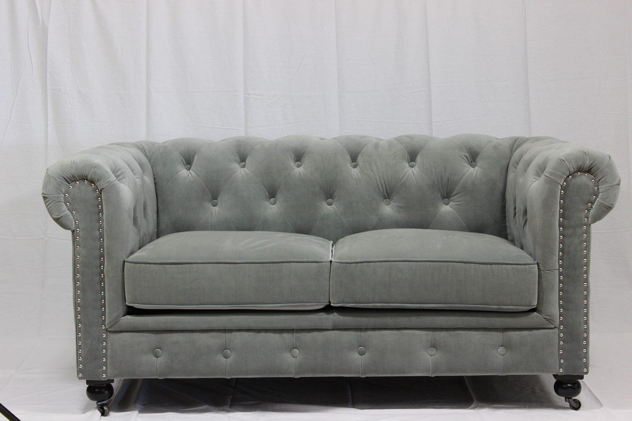 Astounding Tnc Chesterfield 2 Seater Sofa Gray Pdpeps Interior Chair Design Pdpepsorg