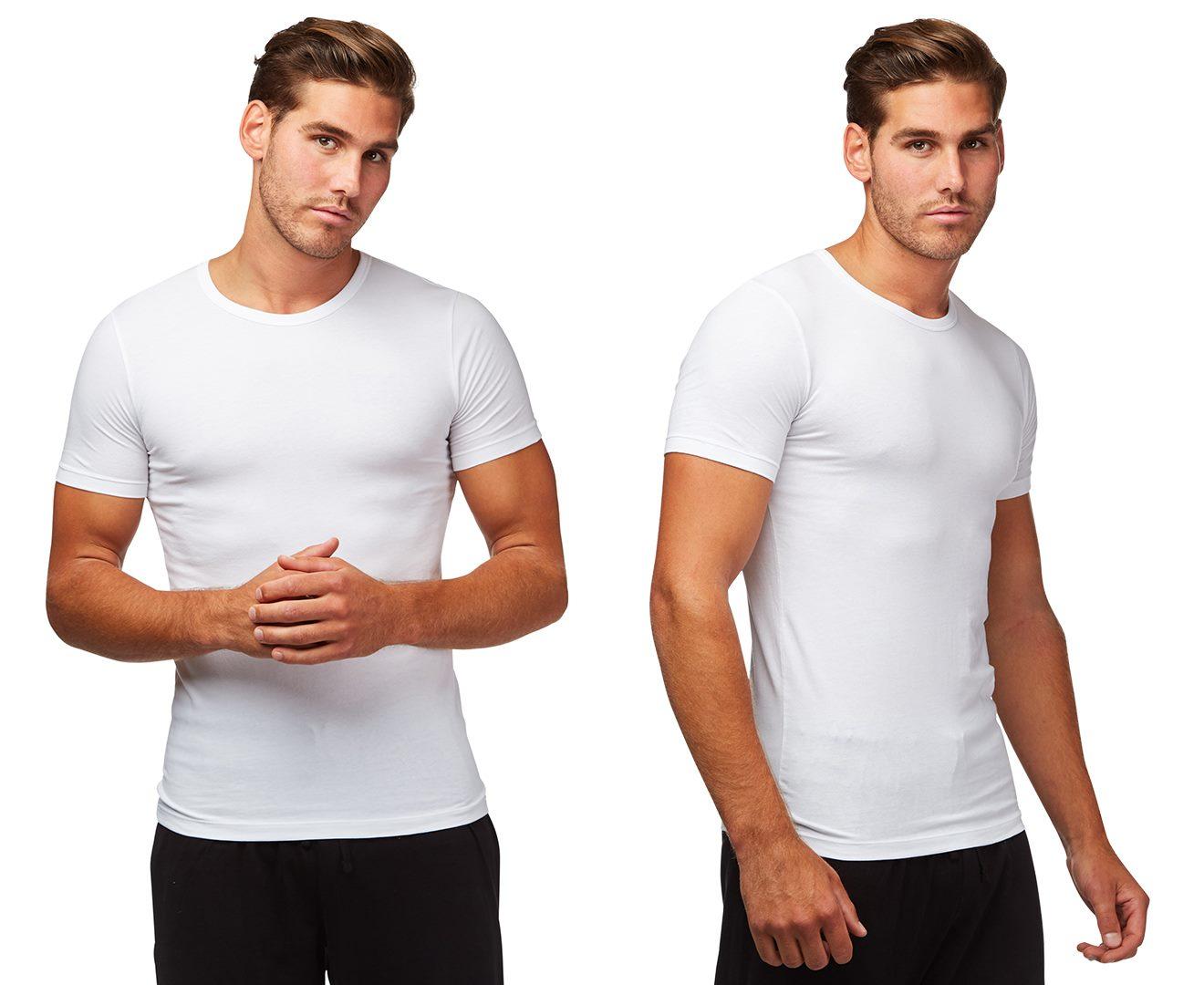 2d10a4e50 Hugo Boss Men's Round Neck Slim Fit T Shirt 2 Pack White Loungewear ...