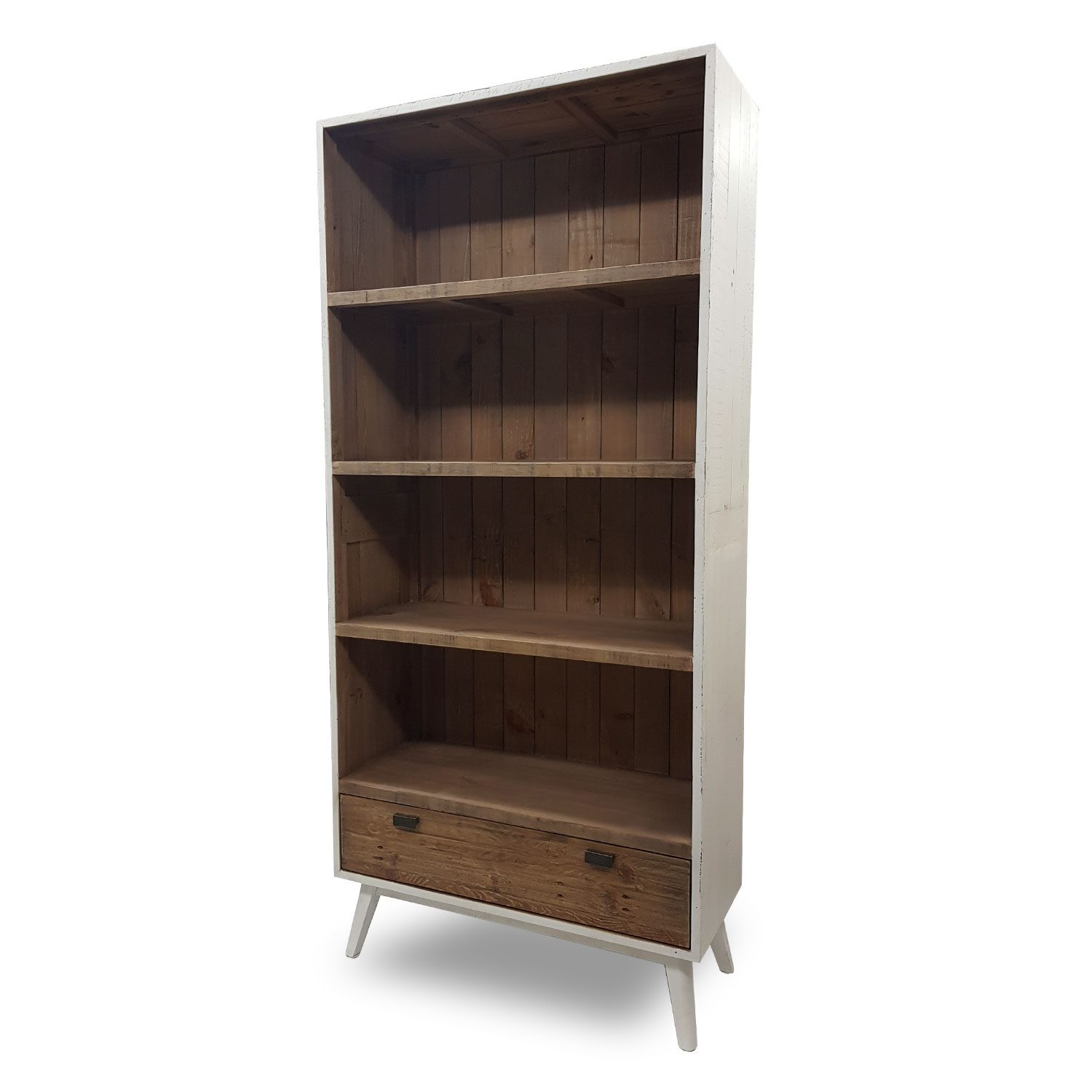 Rustic Wooden Bookcase Brooklyn Collection