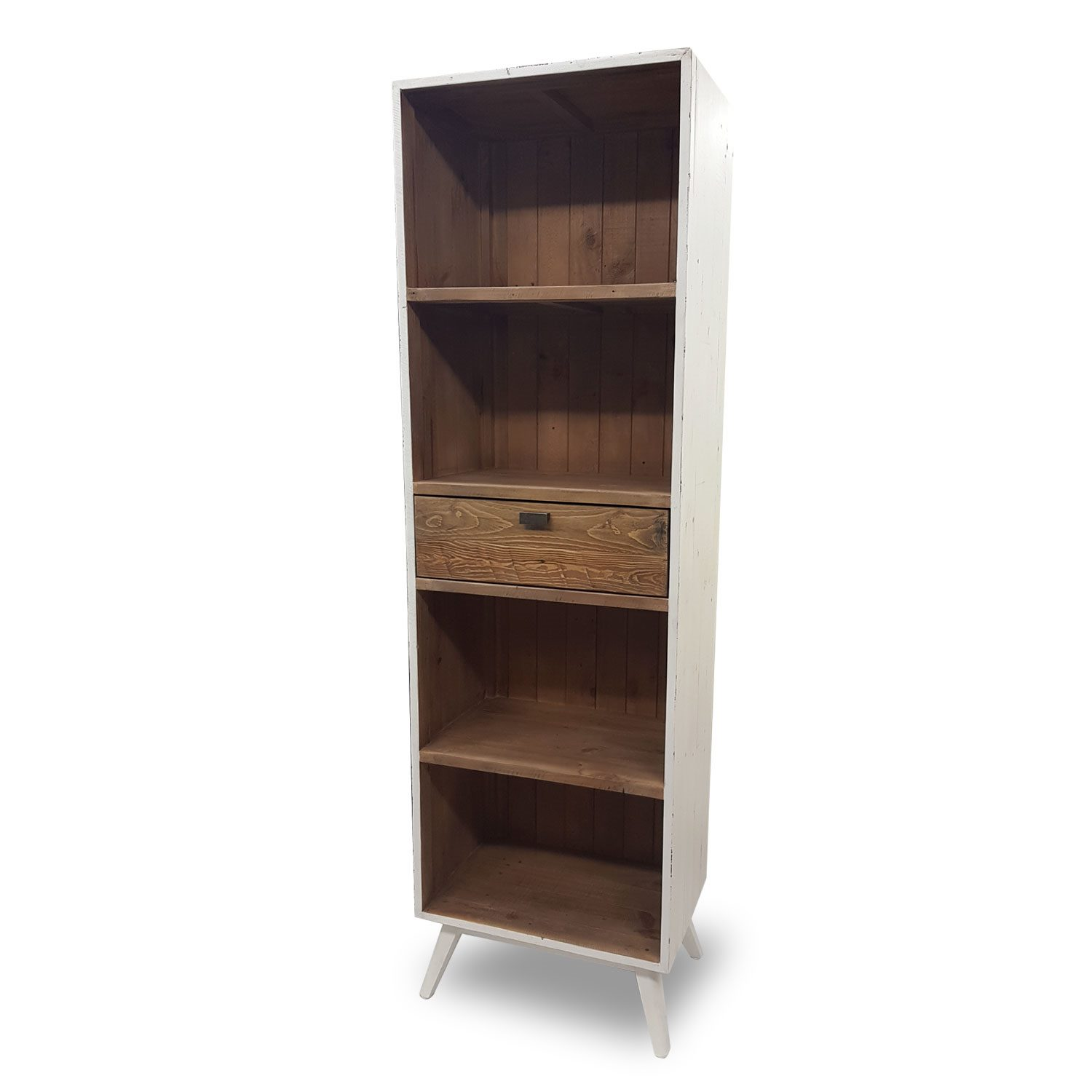 Rustic Wooden Bookcase Display Unit Brooklyn Collection