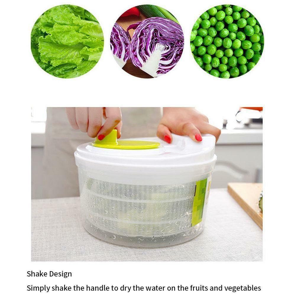 Large Salad Leaf Spinner Dryer Drainer Lettuce Veg Herbs Food Drying Kitchen