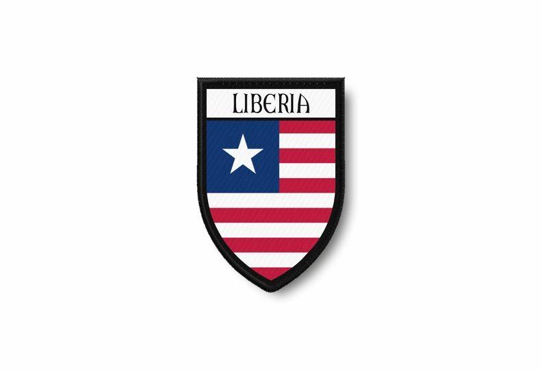 Iron on Liberia Patch