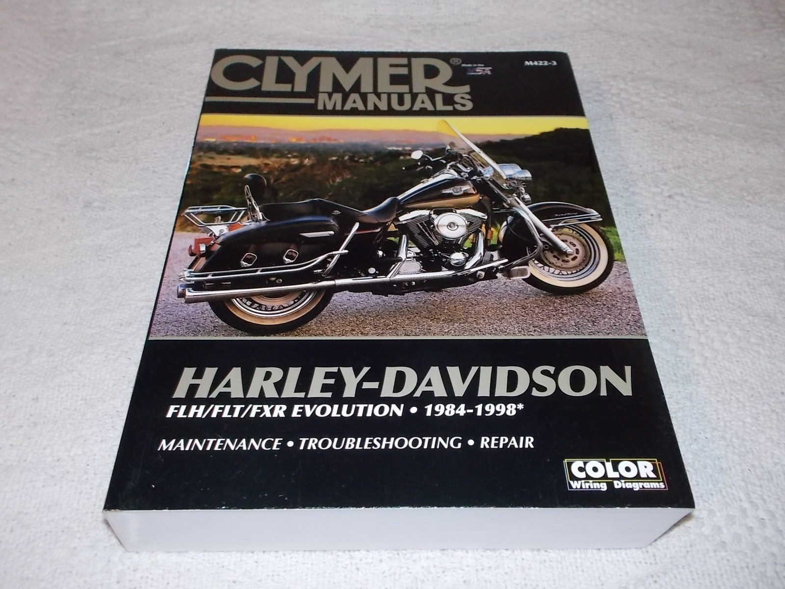 Harley Davidson FLH/FLT/FXR Evo 84-98 Clymer Big Manual ... on