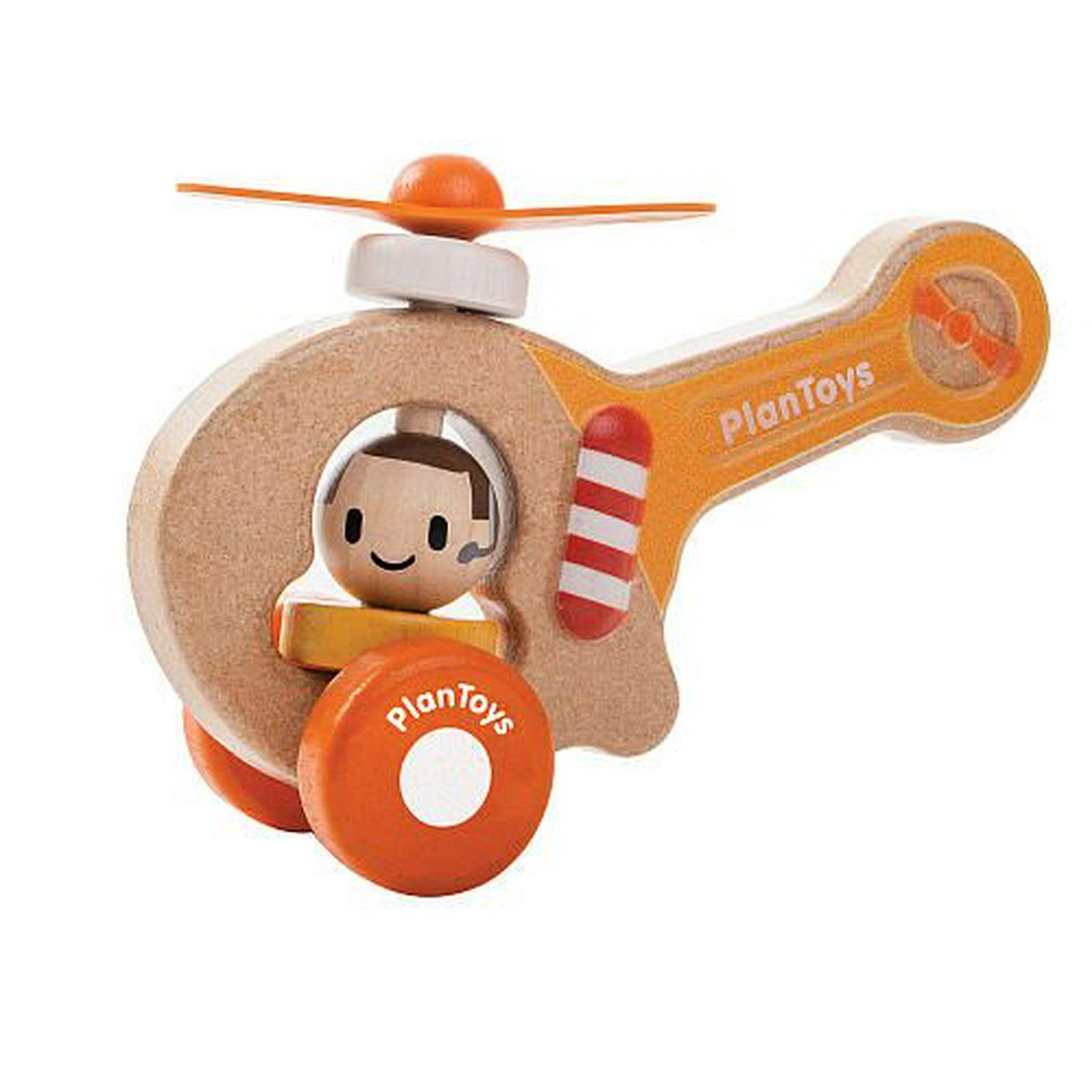 plan toys wooden mini helicopter new free shipping