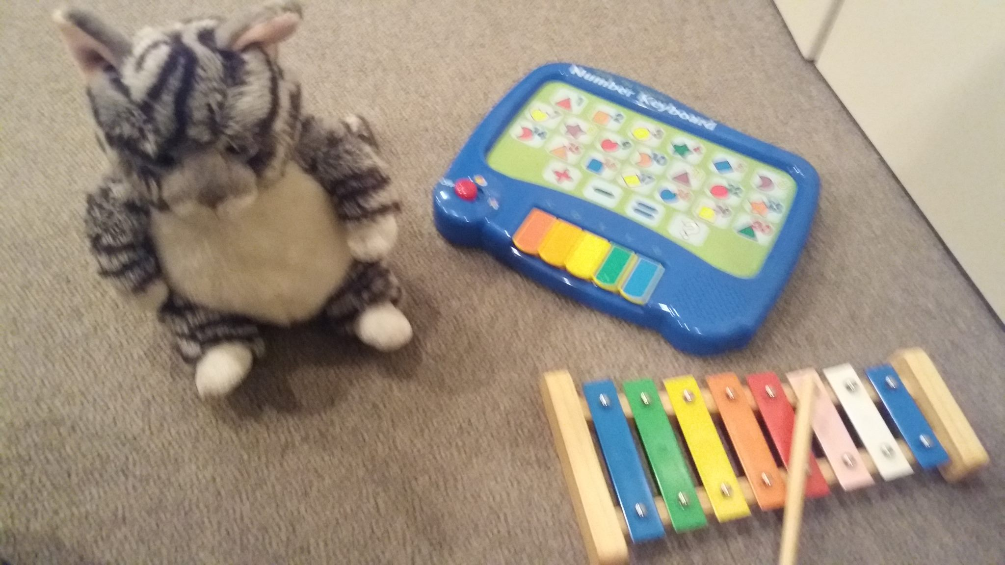 bulk auction xylophone talk n learn keyboard soft toy cat
