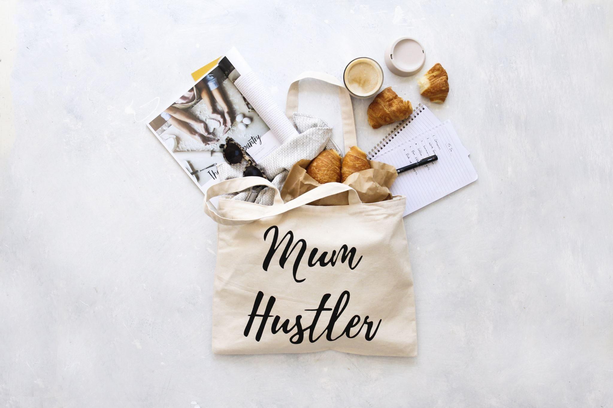 Canvas Tote Bag - Mum Hustler