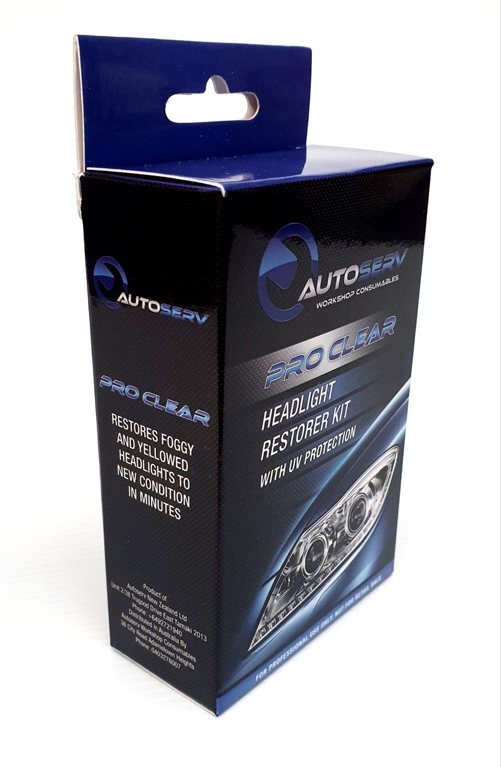 Autoserv Pro Clear Headlight Restoration Kit To Repair Faded