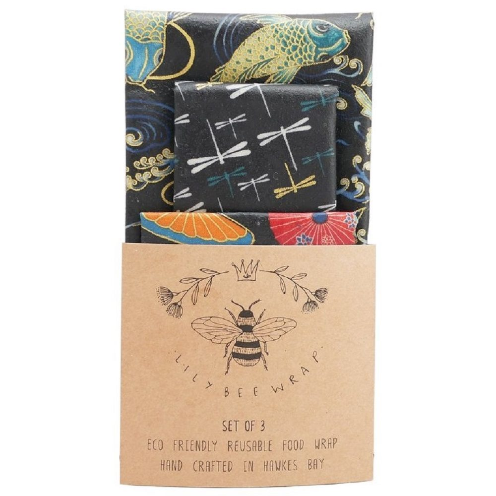 LilyBee Beeswax Wraps - Set of Three