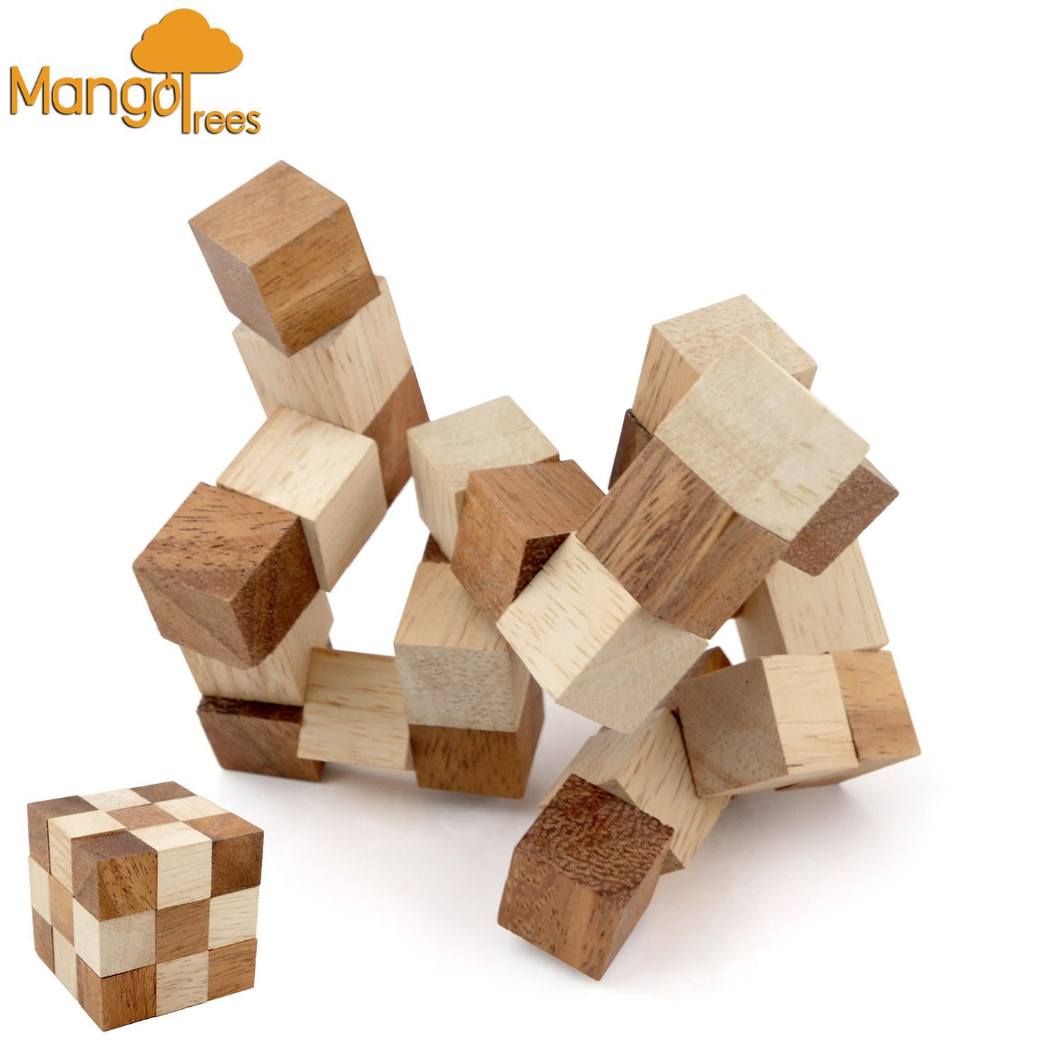 Wooden Puzzle Brain Teaser The Snake Puzzle Gp320l