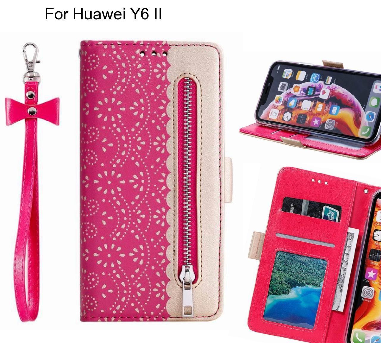 Huawei Y6 II Case multifunctional Wallet Case