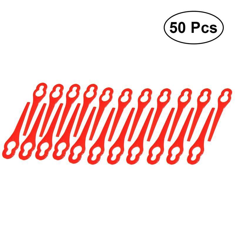 50pcs Plastic Grass Trimmer Blades Mower Replacement Grass for Trim Cutter Parts