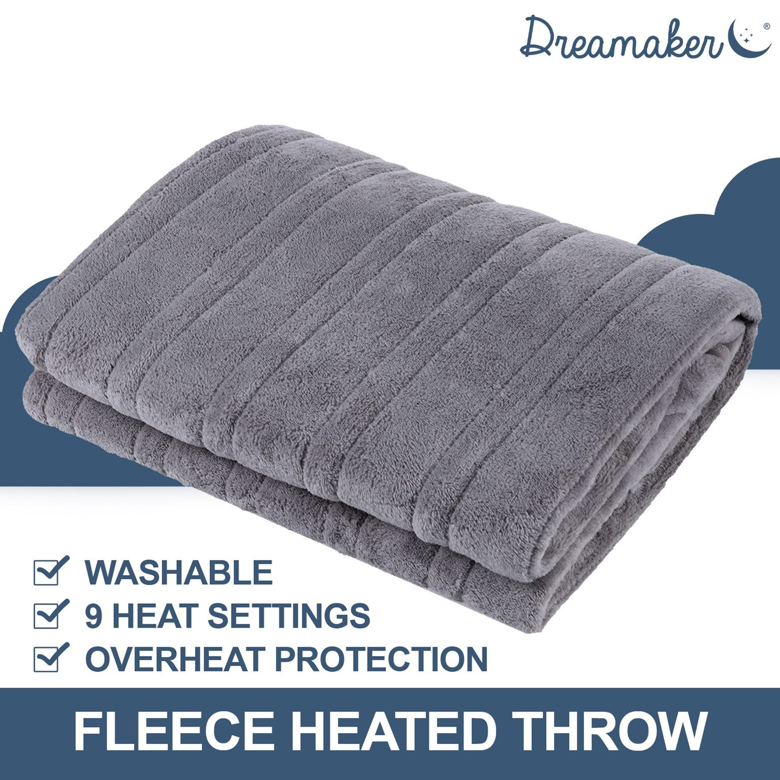 Dreamaker Silver Grey Heated Electric