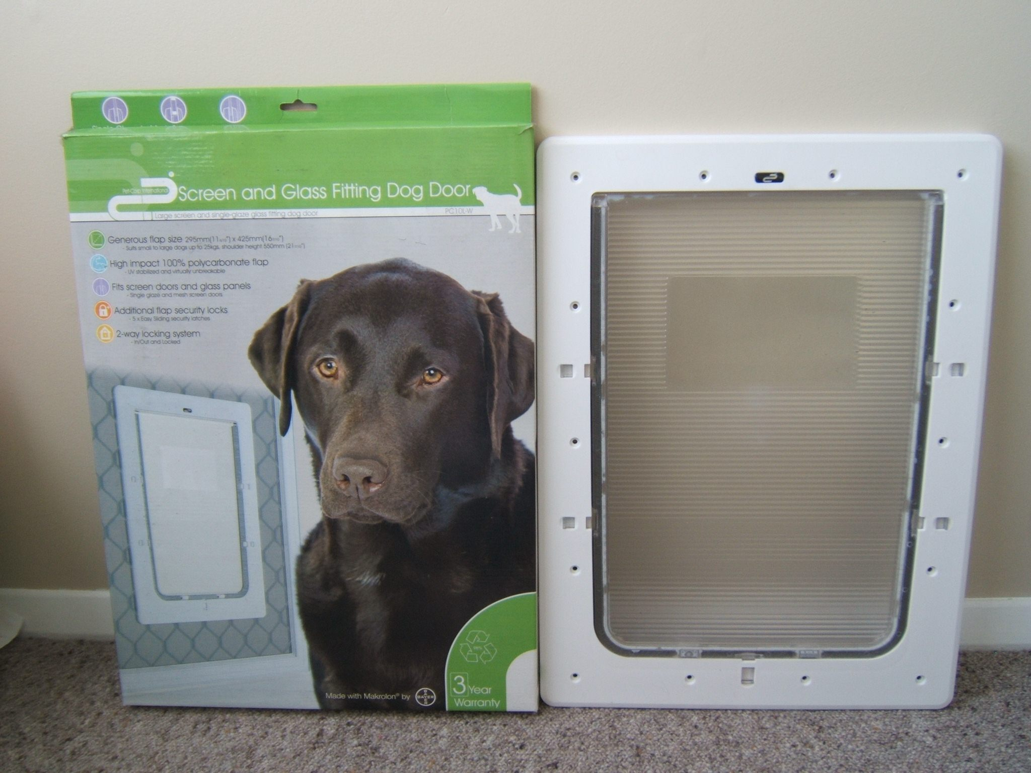Dog Door Screen Glass Fitting Large Trade Me