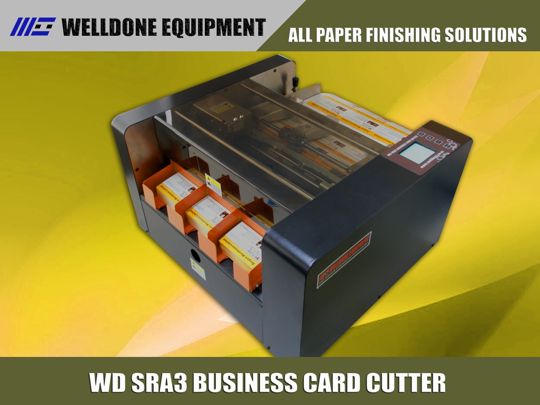 AUTOMATIC BUSINESS CARD CUTTER DLE FLYER CUTTER