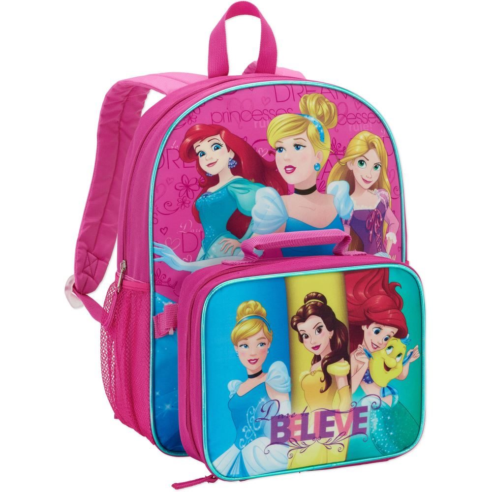 979000de798 Disney Princess Schoolbag with Insulated Lunch Kit License Bag ...