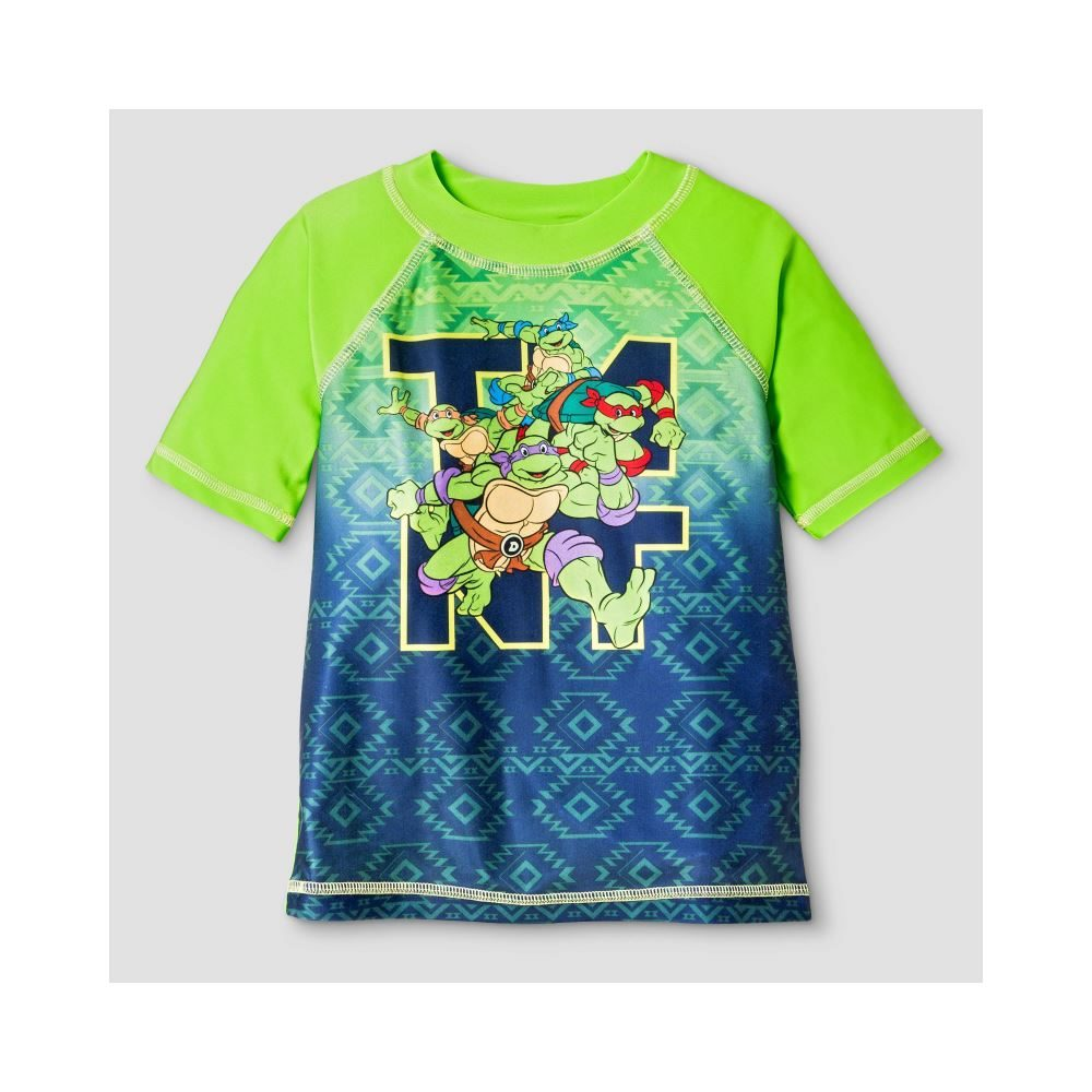 5d7c0f2d49 Teenage Mutant Ninja Turtles Boy Swim Rashguard Official License ...