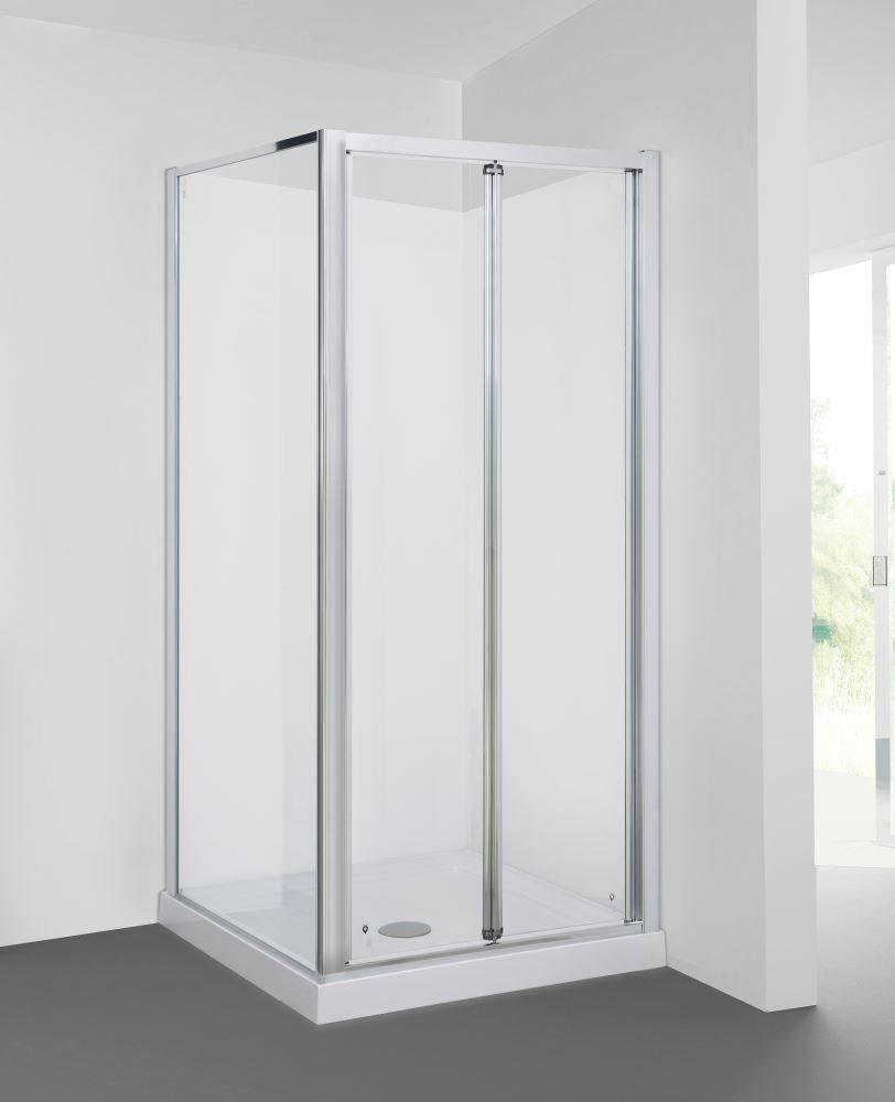 900 x 800mm 2 Sided Bi-Fold Door Shower Enclosure   Trade Me