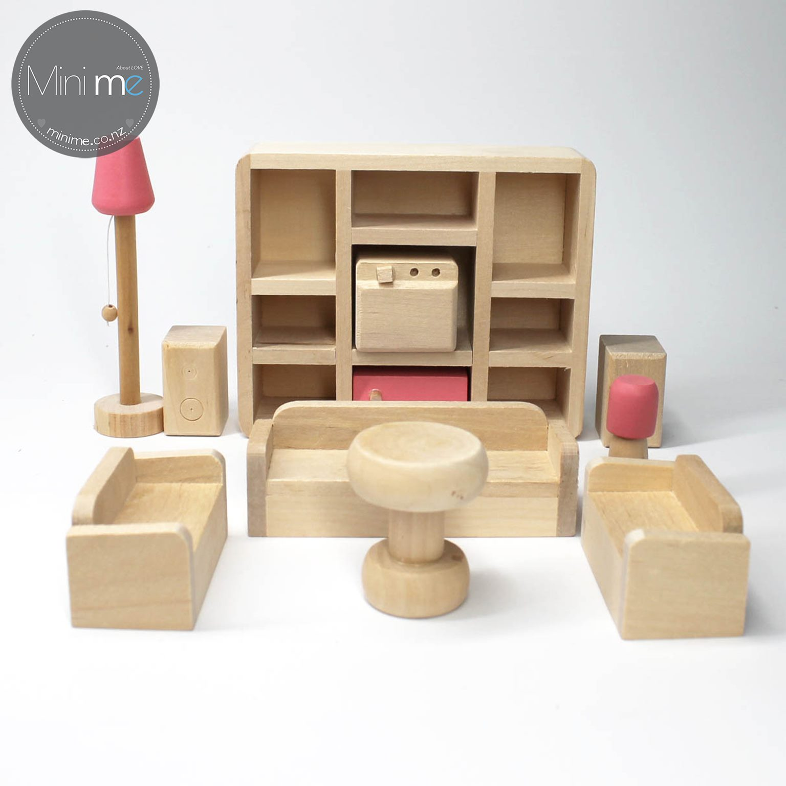wooden doll house furniture sets