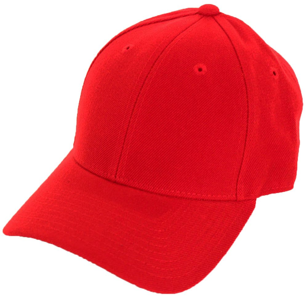 86e763a74f4 Fitted Blank Baseball Hat Red 7 1 8