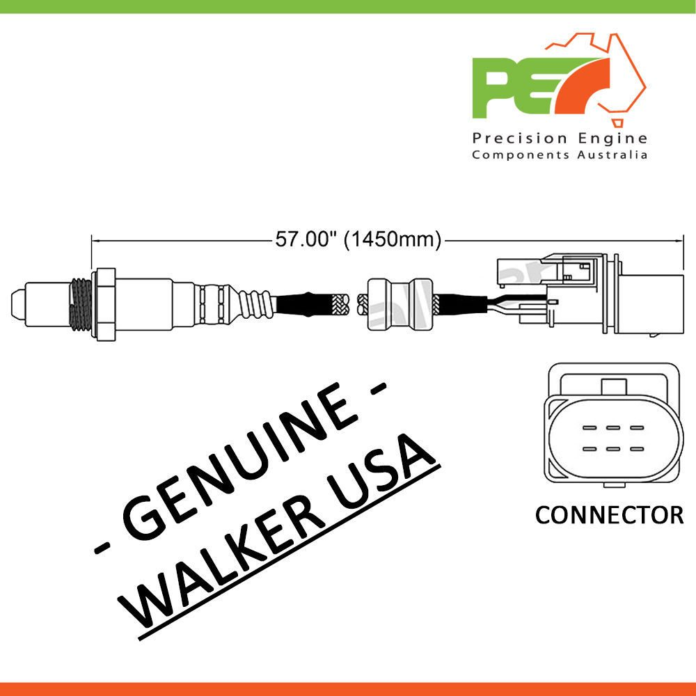 Walker Usa Oxygen Sensor O2 For Volkswagen Golf Passat Vr6 V6 Engine Diagram Click To Enlarge Photo