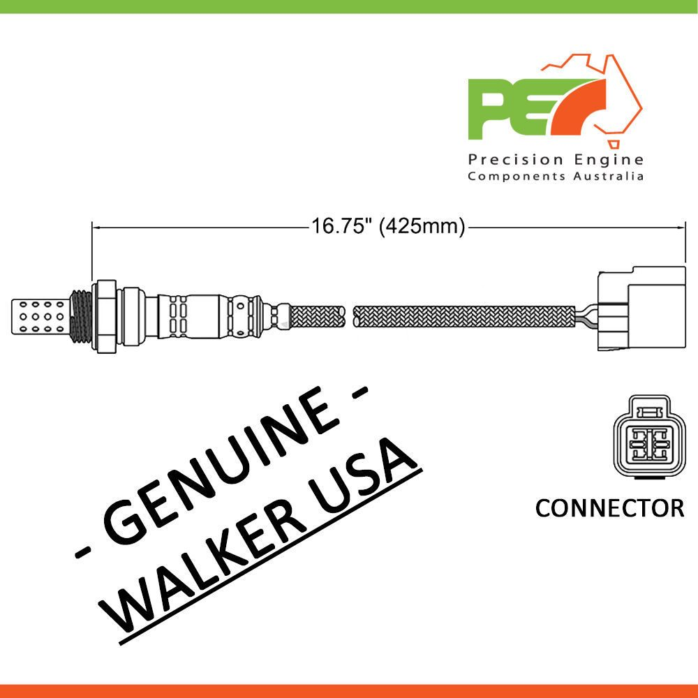 walker usa oxygen sensor o2 for mitsubishi nimbus ug 2 4l 4g64 rh trademe co nz