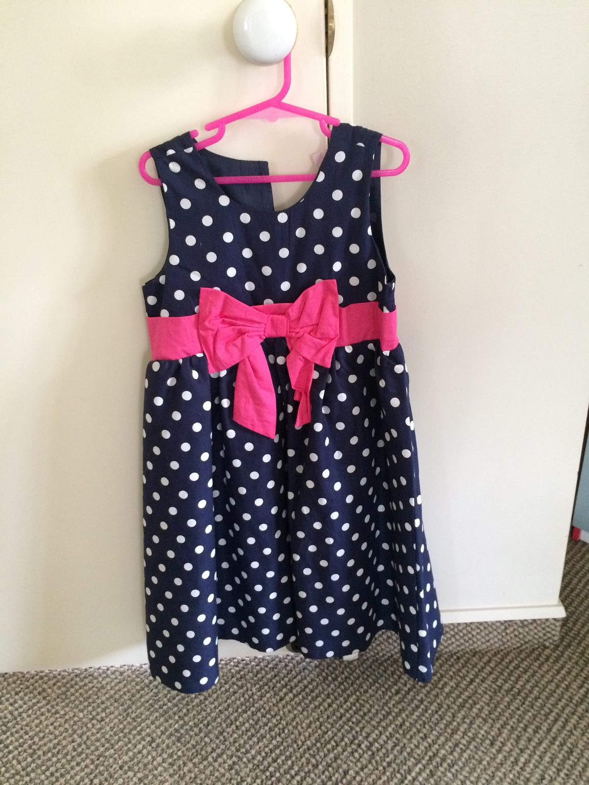 5b6aacfe5 New Tickled Pink Size 6 years Super Cute Spotty Navy, White and Pink ...