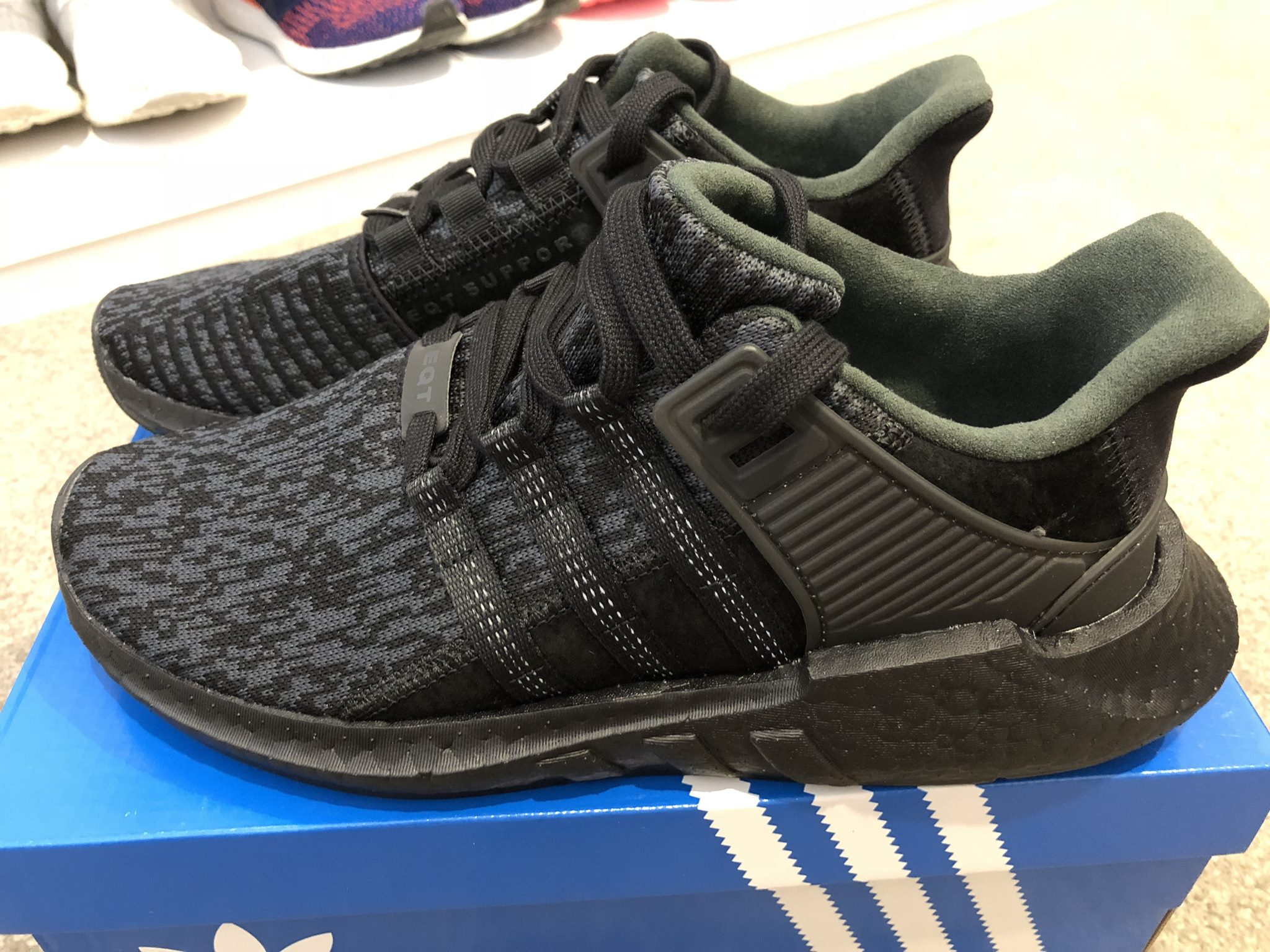 reliable quality more photos best sell Adidas Triple Black EQT 93/17 Boost VNDS - BELOW RETAIL!