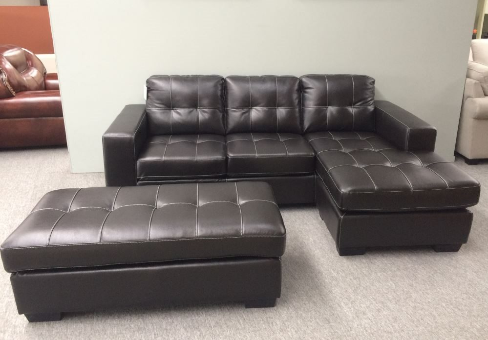 sports shoes 5ee56 fcdf1 Leather Corner Lounge Suite with Ottoman Sofa Bed Optional (Style Jordan)
