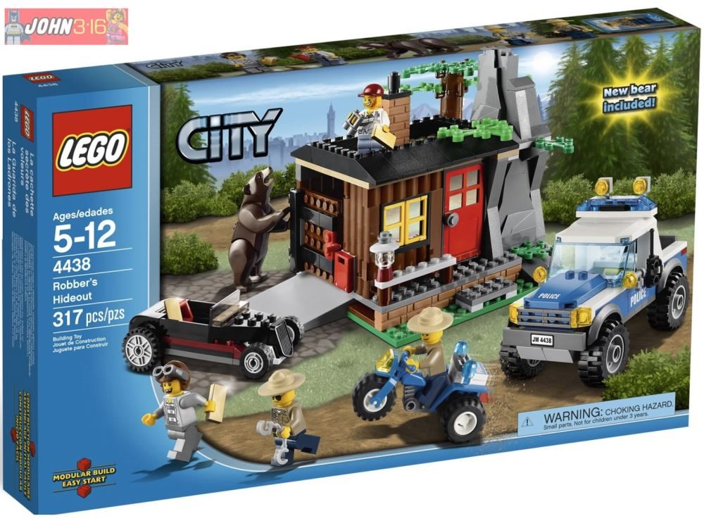 Freepost Awesome Lego City Forest Police 4438 Robbers Hideout