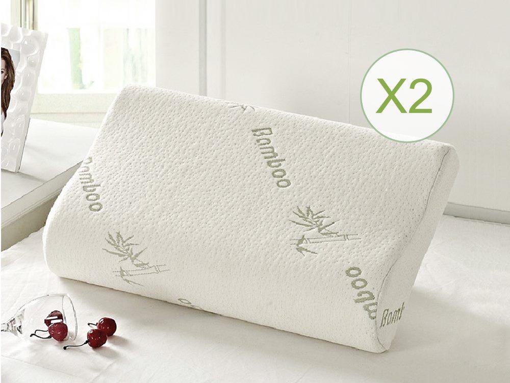 2 X Bamboo Cover Memory Pillow Trade Me