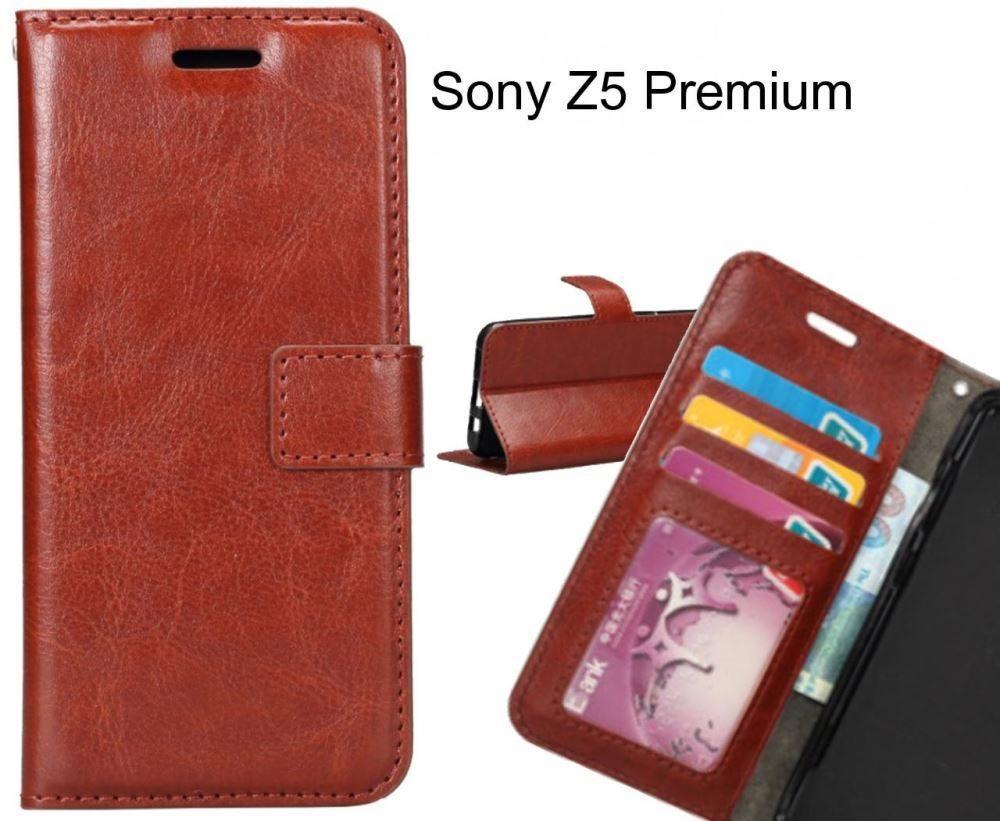 new concept 24ab9 c5830 Sony Z5 Premium case Wallet Leather Magnetic Smart Flip Folio Case