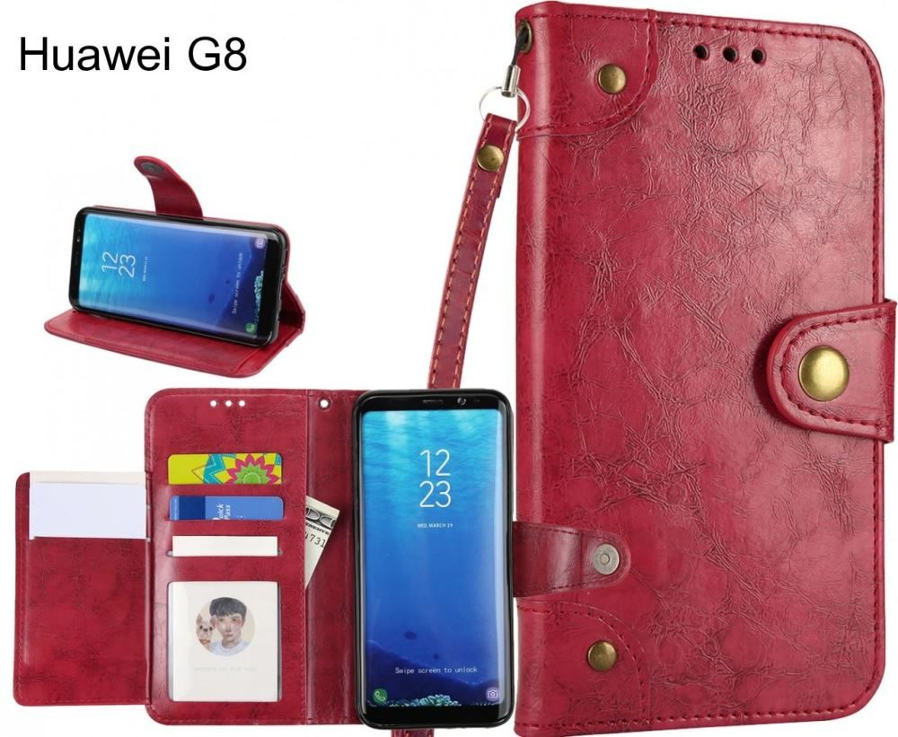 Huawei G8 case executive fine leather wallet case