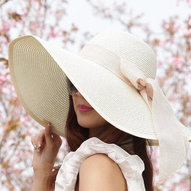 626fe841 Summer Women Ladies Foldable Wide Large Brim Floppy Beach Hat Sun ...