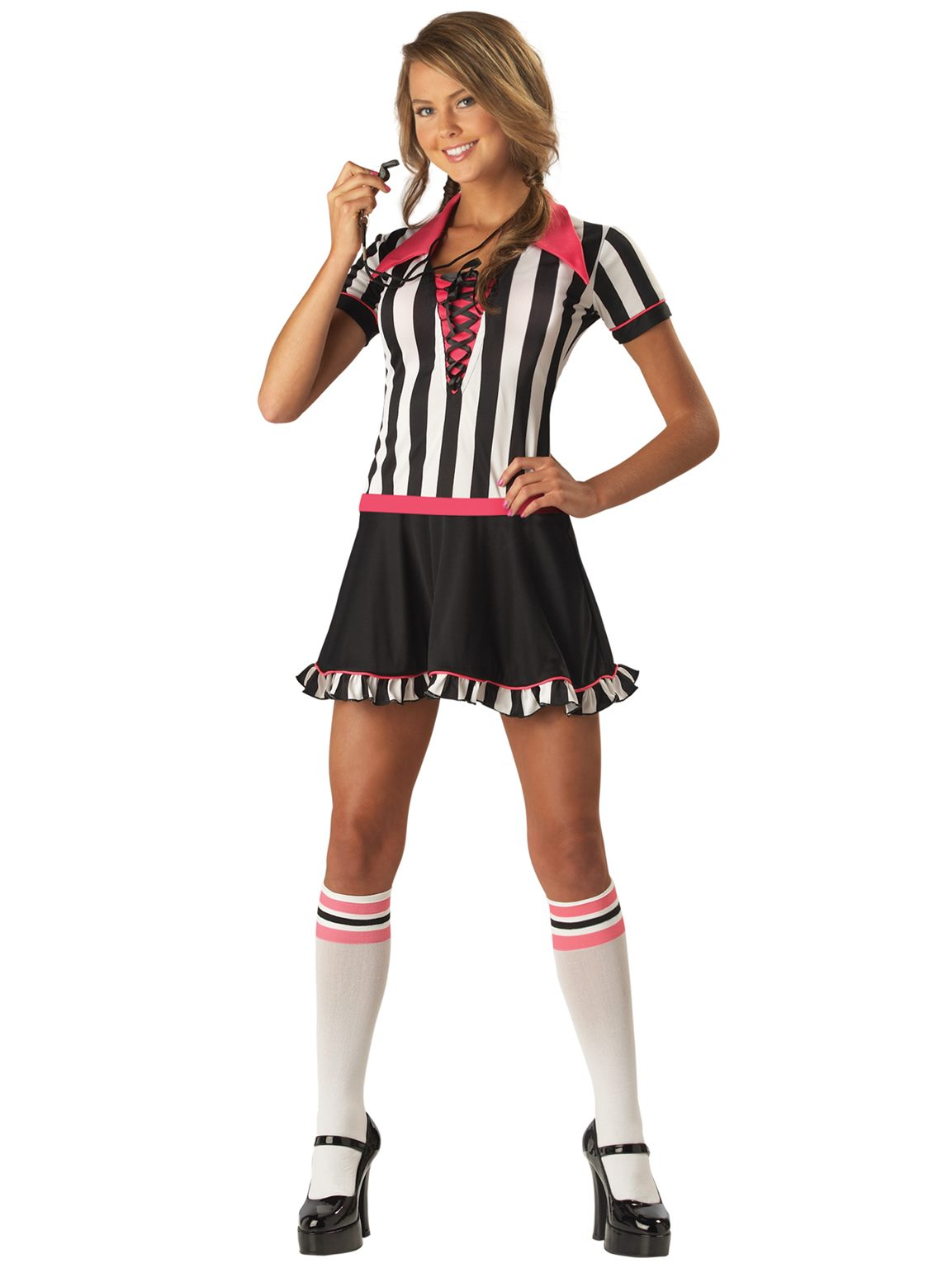 228aa3eb5 Racy Referee Uniform Sports Umpire Football Soccer Teen Women ...