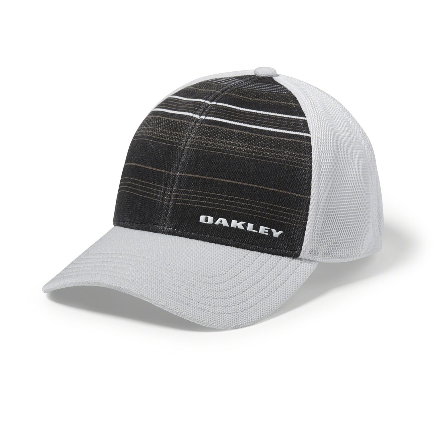 Oakley Silicon Bark Trucker Print 2.0 Hat Cap Blackout Large Extra ... ebe6c53dc4de