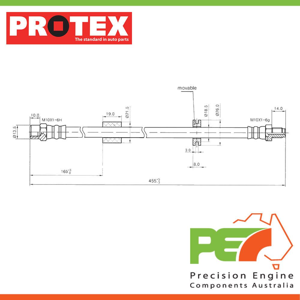 2x New Protex Hydraulic Hose Front For Bmw 520i E28 4d Sdn Rwd Engine Diagram Click To Enlarge Photo