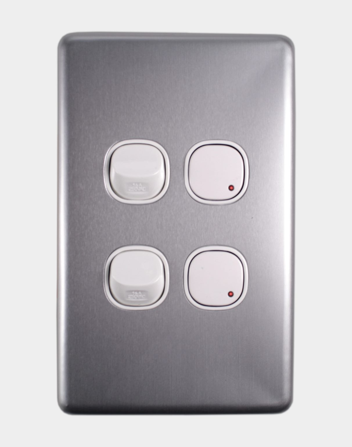 DOUBLE ELECTRONIC PUSH BUTTON DIMMER PLUS TWO SWITCHES - INOVO ...