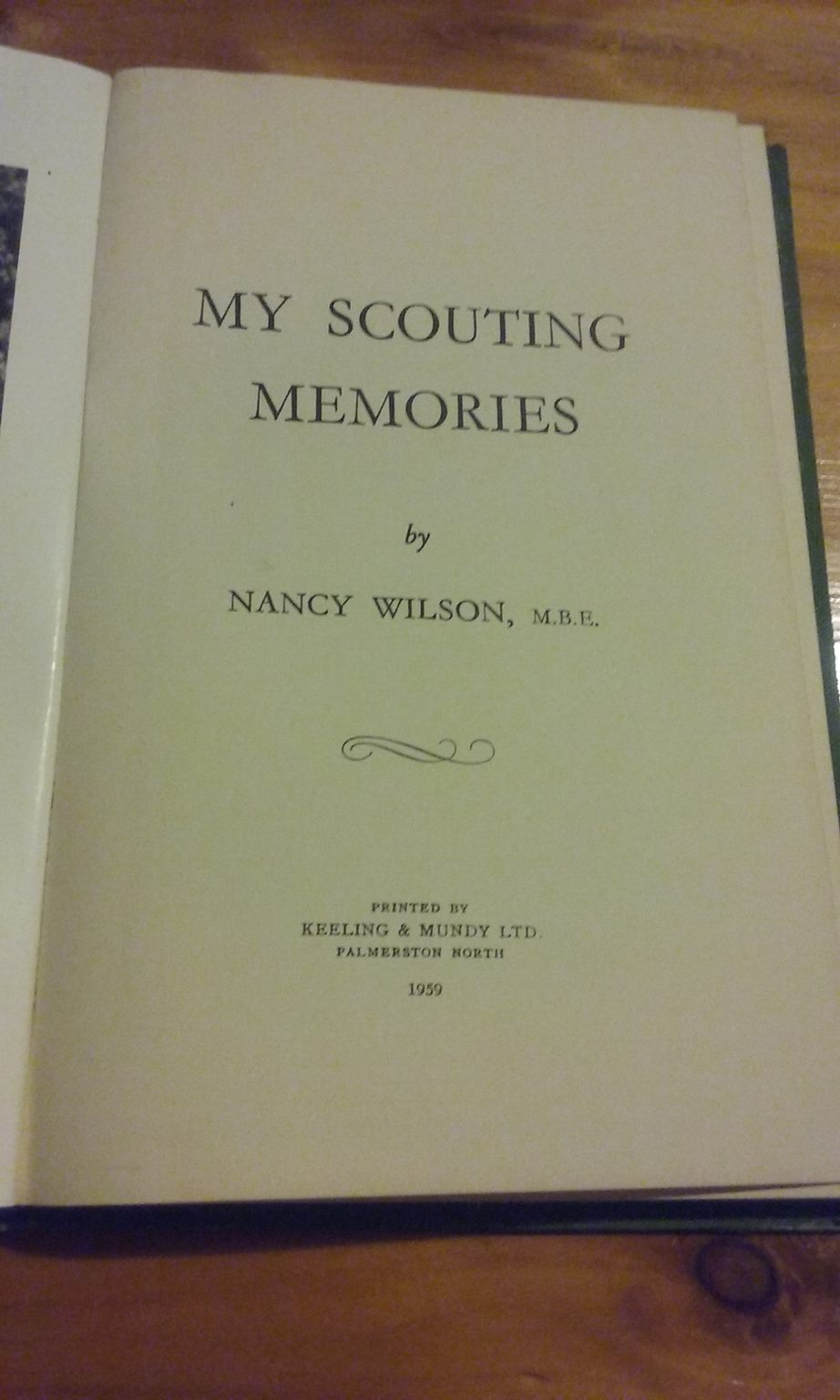 My Scouting Memories - NZ - Nancy Wilson MBE - 1959