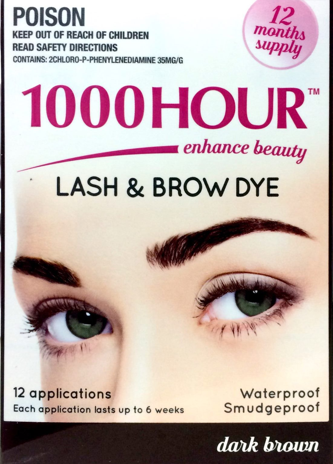1000 Hour Lash Brown Dye Kit 12 Applicationsdark Brown Trade Me