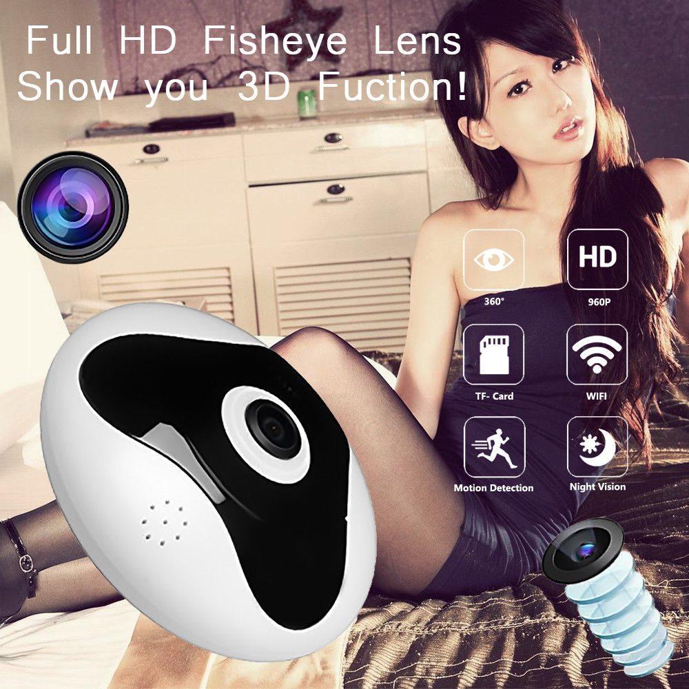 960P IP Camera Wifi Fisheye 360° Home Security Cam IR Night Video Monitor