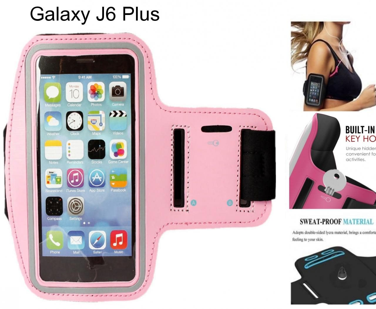 Galaxy J6 Plus Armband Running Sports Gym Case
