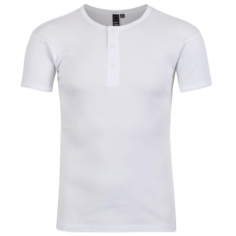 f2d1df87 Soul Star Mens Ribbed Grandad T-Shirt Short Sleeve Casual Tee Top ...