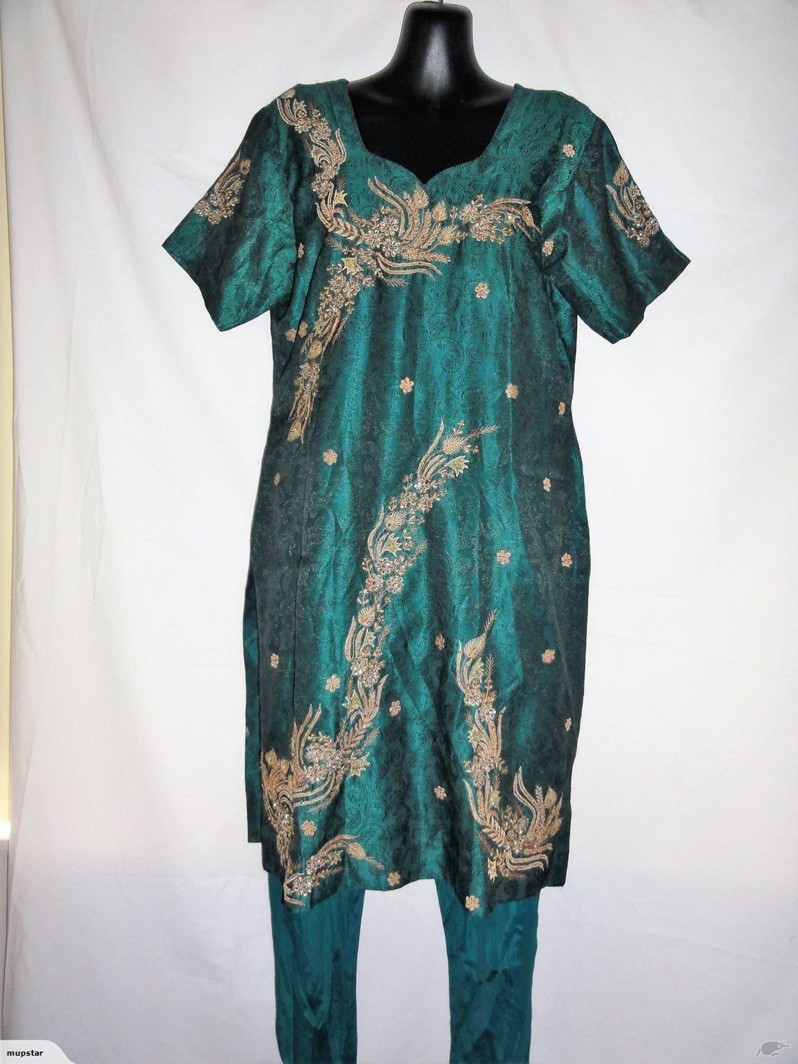 5a3e4fe5c63 Indian Dress Emerald green tunic+pants 2 piece s10-12 | Trade Me