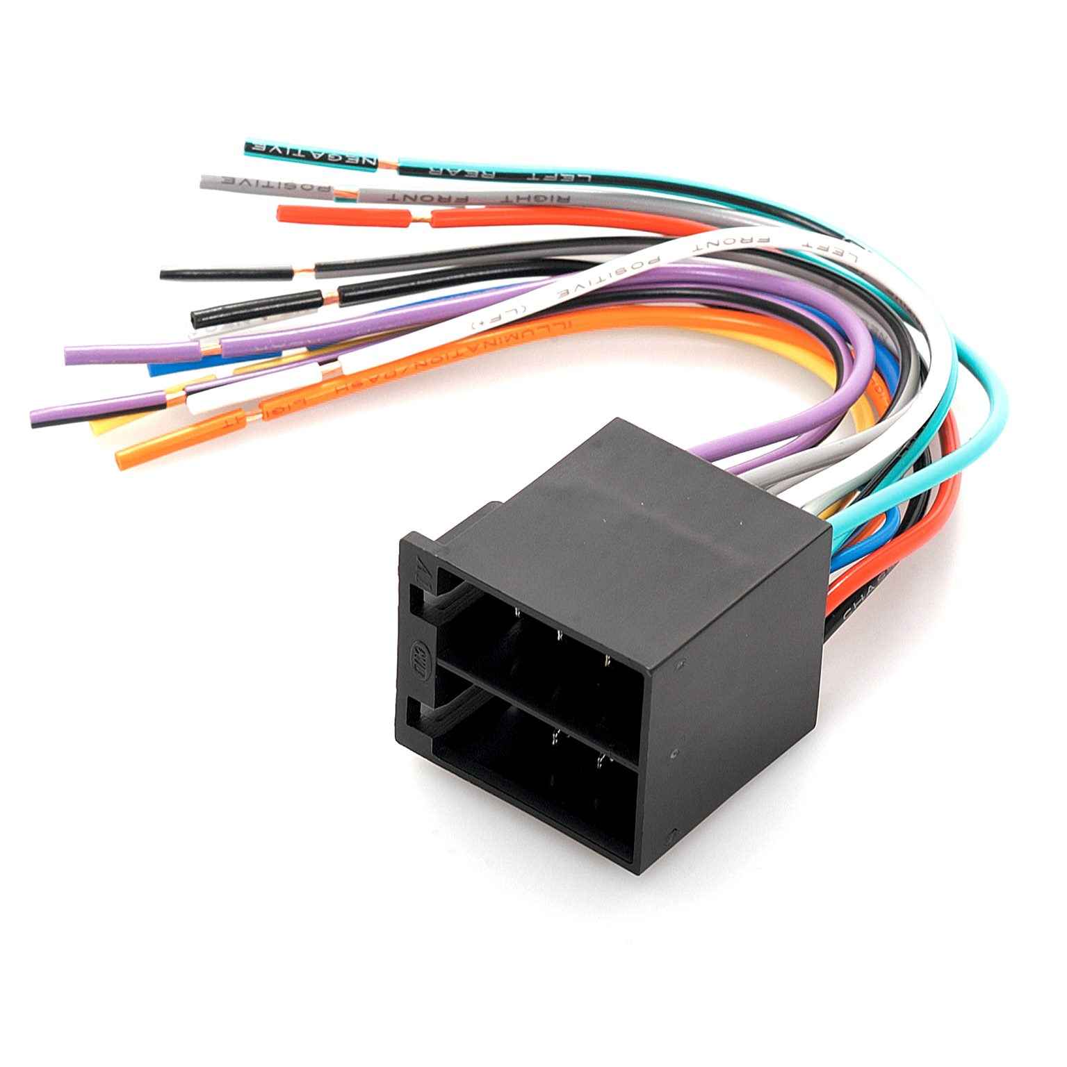Aerpro App7201m Male Iso To Bare Ends Wiring Harness Plug Lead Loom Connector Trade Me