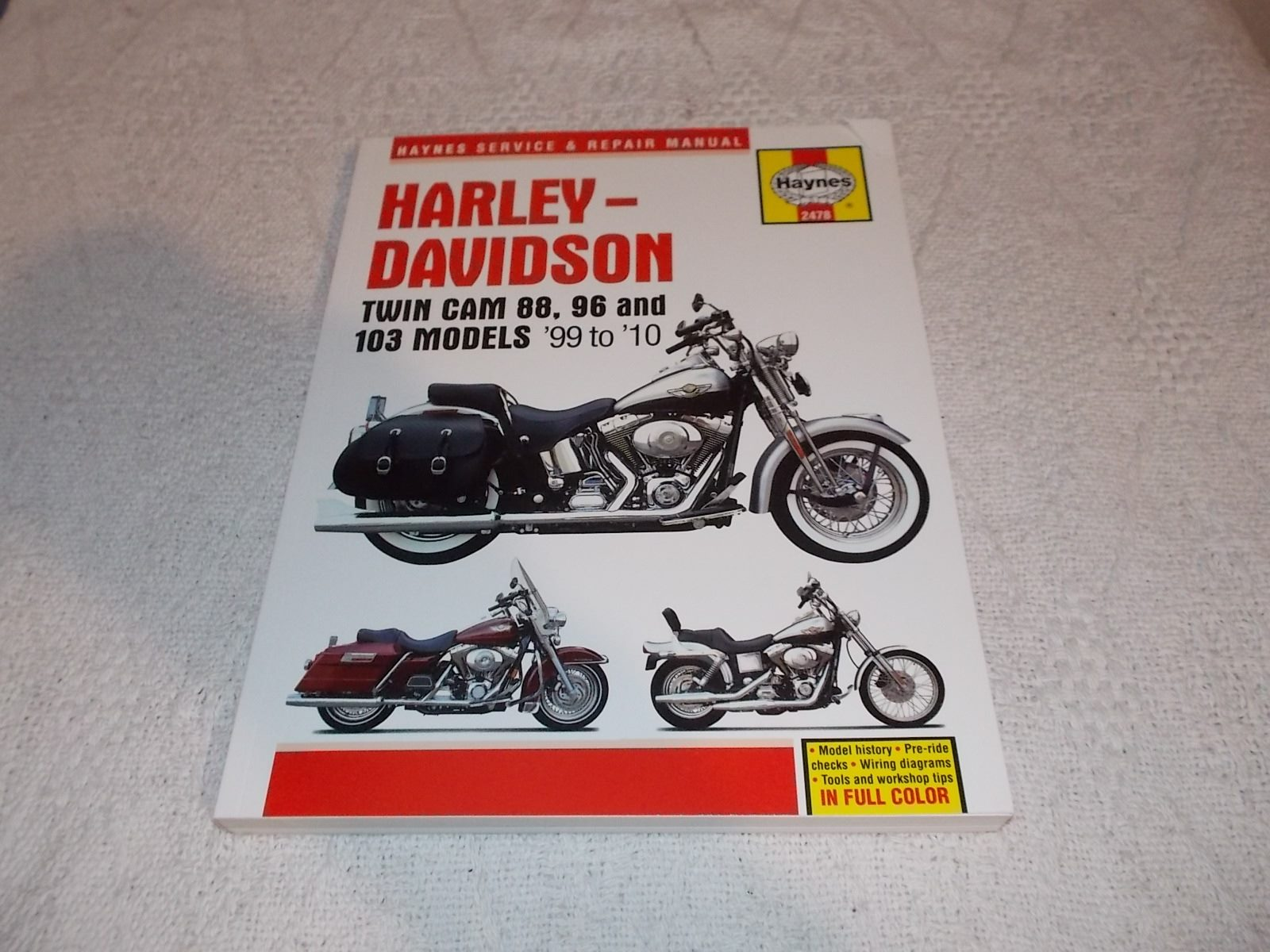 Harley Davidson Twin Cam 88 96 103 1999 to 2010 Haynes ... on