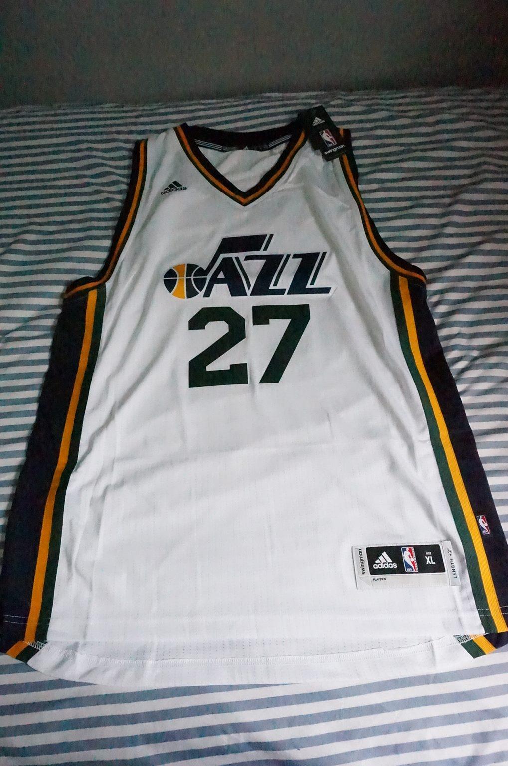 sports shoes 95993 862f6 Adidas Swingman 2015-16 NBA Jersey Utah Jazz Rudy Gobert White sz XL