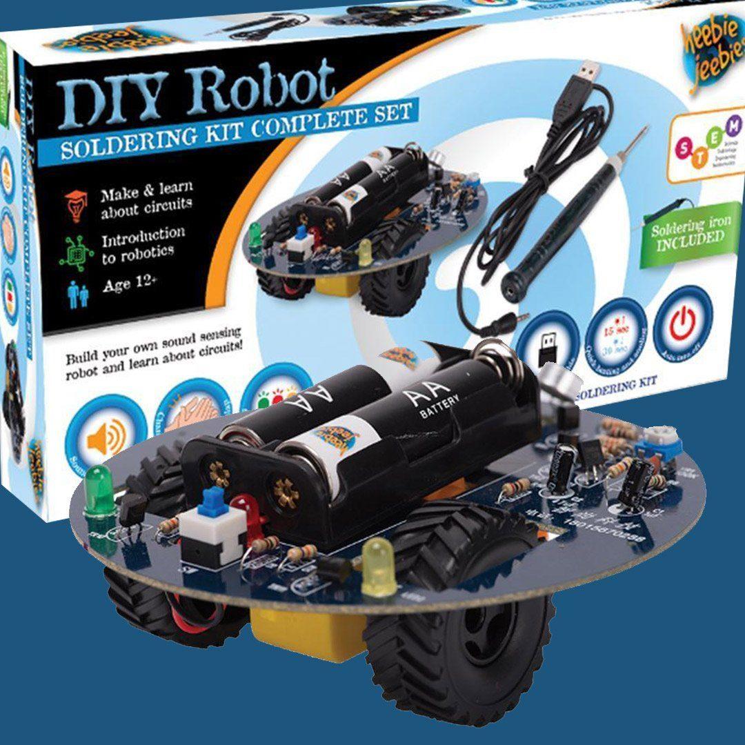 DIY Sound Sensing Robot with Soldering Iron Kit