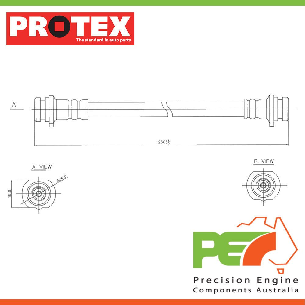 NEW *PROTEX* HYDRAULIC HOSE - REAR FOR NISSAN PULSAR N14 2D
